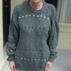 Green cotton sweater Sz S